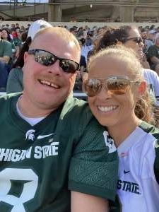 Jake Borges attended Michigan State Spartans vs. Youngstown State Penguins - NCAA Football on Sep 11th 2021 via VetTix