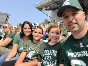 Aaron attended Michigan State Spartans vs. Youngstown State Penguins - NCAA Football on Sep 11th 2021 via VetTix