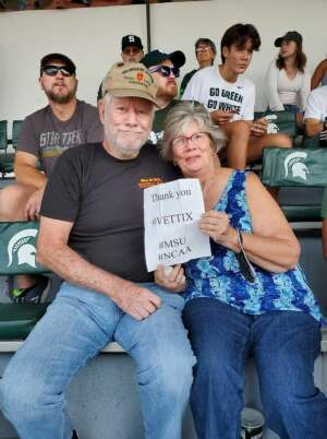 Ron Ronk attended Michigan State Spartans vs. Youngstown State Penguins - NCAA Football on Sep 11th 2021 via VetTix