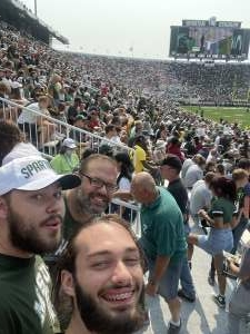 William attended Michigan State Spartans vs. Youngstown State Penguins - NCAA Football on Sep 11th 2021 via VetTix