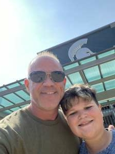 David attended Michigan State Spartans vs. Youngstown State Penguins - NCAA Football on Sep 11th 2021 via VetTix