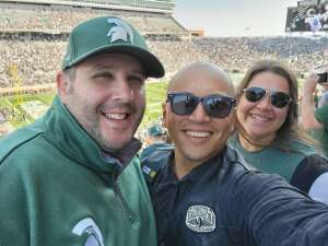 Ellizar  attended Michigan State Spartans vs. Youngstown State Penguins - NCAA Football on Sep 11th 2021 via VetTix