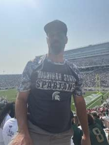 Russell  attended Michigan State Spartans vs. Youngstown State Penguins - NCAA Football on Sep 11th 2021 via VetTix