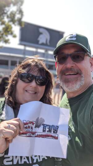 Dave V. attended Michigan State Spartans vs. Youngstown State Penguins - NCAA Football on Sep 11th 2021 via VetTix