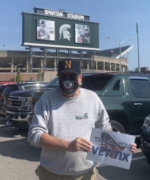 Jerry Van attended Michigan State Spartans vs. Youngstown State Penguins - NCAA Football on Sep 11th 2021 via VetTix