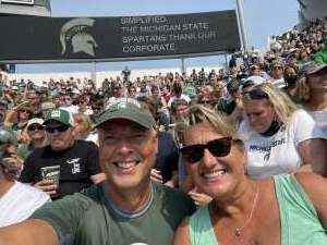 Jeff attended Michigan State Spartans vs. Youngstown State Penguins - NCAA Football on Sep 11th 2021 via VetTix