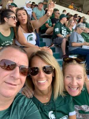 Charles attended Michigan State Spartans vs. Youngstown State Penguins - NCAA Football on Sep 11th 2021 via VetTix