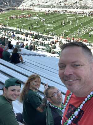 Kevin attended Michigan State Spartans vs. Youngstown State Penguins - NCAA Football on Sep 11th 2021 via VetTix