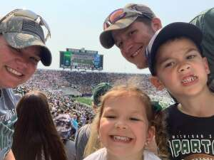 Nicholas attended Michigan State Spartans vs. Youngstown State Penguins - NCAA Football on Sep 11th 2021 via VetTix