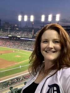 Jolene Hardesty attended Detroit Tigers vs. Texas Rangers - MLB on Jul 21st 2021 via VetTix