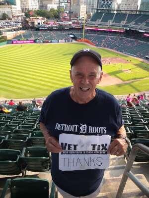 Dave attended Detroit Tigers vs. Texas Rangers - MLB on Jul 21st 2021 via VetTix