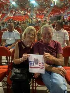 Jim & Liz attended An Evening With Frankie Valli and the Four Seasons on Jul 23rd 2021 via VetTix
