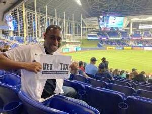 Jay T. attended Miami Marlins vs. San Diego Padres - MLB on Jul 23rd 2021 via VetTix