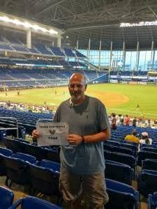 Rick H attended Miami Marlins vs. San Diego Padres - MLB on Jul 23rd 2021 via VetTix