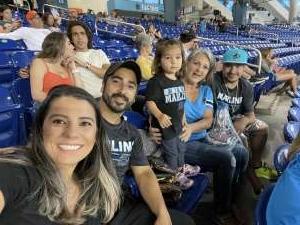 Christopher Myers attended Miami Marlins vs. San Diego Padres - MLB on Jul 23rd 2021 via VetTix