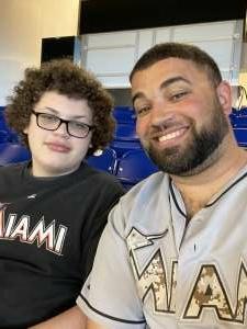 Alynn J. attended Miami Marlins vs. San Diego Padres - MLB on Jul 25th 2021 via VetTix