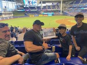 Nora attended Miami Marlins vs. San Diego Padres - MLB on Jul 25th 2021 via VetTix