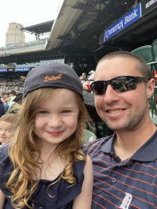 Devin attended Detroit Tigers vs. Texas Rangers - MLB on Jul 22nd 2021 via VetTix