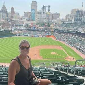 Kristine  attended Detroit Tigers vs. Texas Rangers - MLB on Jul 22nd 2021 via VetTix