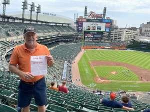 Gregory D. Bader, Sr. attended Detroit Tigers vs. Texas Rangers - MLB on Jul 22nd 2021 via VetTix