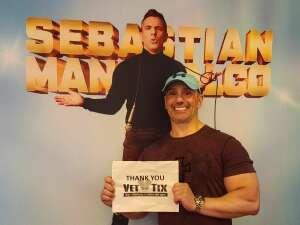 Ryan R. attended Sebastian Maniscalco on Jul 22nd 2021 via VetTix