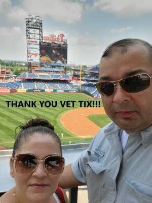 Ruben D. Vasquez attended Philadelphia Phillies vs. Atlanta Braves - MLB on Jul 25th 2021 via VetTix