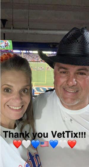 Marcos and Kimberly Hoff attended University of Florida Gators vs. Florida Atlantic University Owls - NCAA Football on Sep 4th 2021 via VetTix