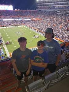 Curtis  attended University of Florida Gators vs. Florida Atlantic University Owls - NCAA Football on Sep 4th 2021 via VetTix