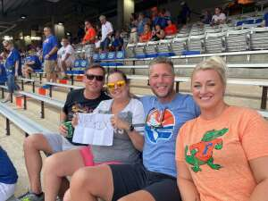 Rebecca Gregg attended University of Florida Gators vs. Florida Atlantic University Owls - NCAA Football on Sep 4th 2021 via VetTix