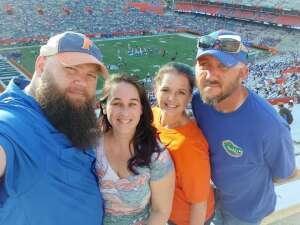 Amanda Chapman attended University of Florida Gators vs. Florida Atlantic University Owls - NCAA Football on Sep 4th 2021 via VetTix