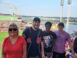 Peggy Tata  attended Cincinnati Reds vs St. Louis Cardinals - MLB on Jul 24th 2021 via VetTix
