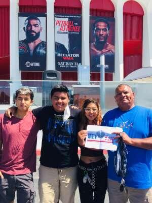 David attended Bellator MMA on Jul 31st 2021 via VetTix