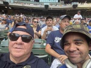 Rob Robinson attended Milwaukee Brewers vs. Cincinnati Reds - MLB on Aug 26th 2021 via VetTix