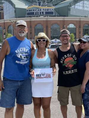 Tim Casperson attended Milwaukee Brewers vs. Cincinnati Reds - MLB on Aug 26th 2021 via VetTix