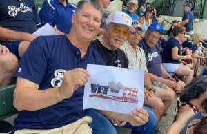 Richard Feustel attended Milwaukee Brewers vs. Cincinnati Reds - MLB on Aug 26th 2021 via VetTix