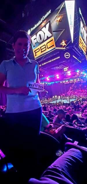 Jo attended Premier Boxing Champions: Coffie vs. Rice on Jul 31st 2021 via VetTix