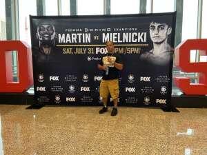 DocBolo attended Premier Boxing Champions: Coffie vs. Rice on Jul 31st 2021 via VetTix