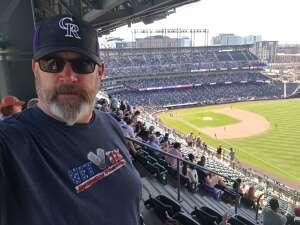 Christopher attended Colorado Rockies vs. Arizona D-backs on Aug 22nd 2021 via VetTix