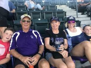 Guy A Giancarlo attended Colorado Rockies vs. Arizona D-backs on Aug 22nd 2021 via VetTix