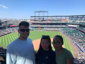 Jessica attended Colorado Rockies vs. Arizona D-backs on Aug 22nd 2021 via VetTix