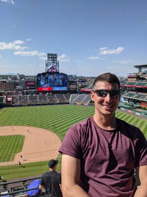 Ricky attended Colorado Rockies vs. Arizona D-backs on Aug 22nd 2021 via VetTix