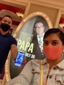 Ricardo attended Tom Papa Family Reunion Tour on Jul 30th 2021 via VetTix