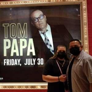 Rick Sepulveda  attended Tom Papa Family Reunion Tour on Jul 30th 2021 via VetTix