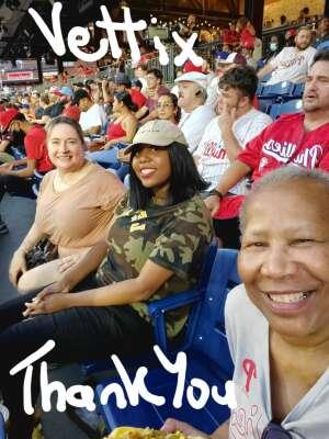Sandy attended Philadelphia Phillies vs. Los Angeles Dodgers - MLB on Aug 10th 2021 via VetTix