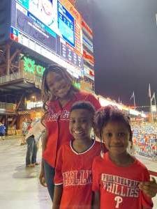 The Roberts Family attended Philadelphia Phillies vs. Los Angeles Dodgers - MLB on Aug 10th 2021 via VetTix