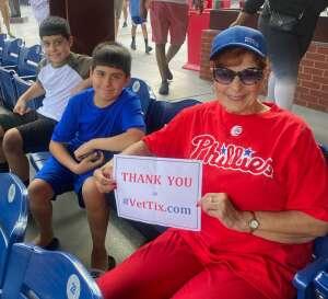 Judi attended Philadelphia Phillies vs. Los Angeles Dodgers - MLB on Aug 10th 2021 via VetTix