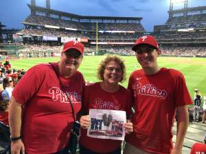 Julia Spock attended Philadelphia Phillies vs. Los Angeles Dodgers - MLB on Aug 10th 2021 via VetTix