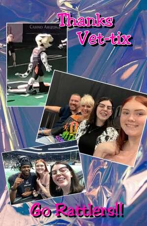 Ryan attended Arizona Rattlers vs. Frisco Fighters on Aug 21st 2021 via VetTix