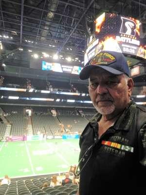 Robert Cisneros attended Arizona Rattlers vs. Frisco Fighters on Aug 21st 2021 via VetTix