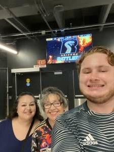 Anna Laura attended Arizona Rattlers vs. Frisco Fighters on Aug 21st 2021 via VetTix